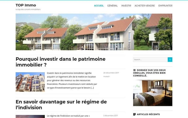TOP Immo - Le top des conseils immobiliers