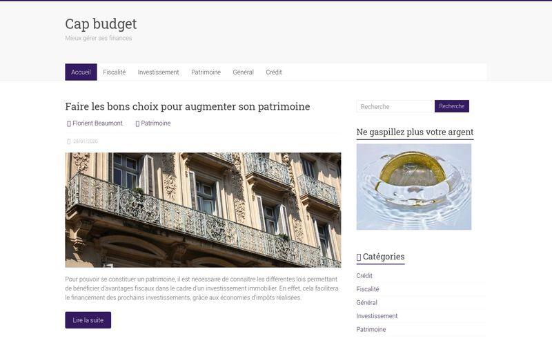 Cap budget - Mieux gérer ses finances