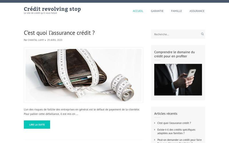 Crédit revolving stop - Le site de crédit qu'il vous fallait