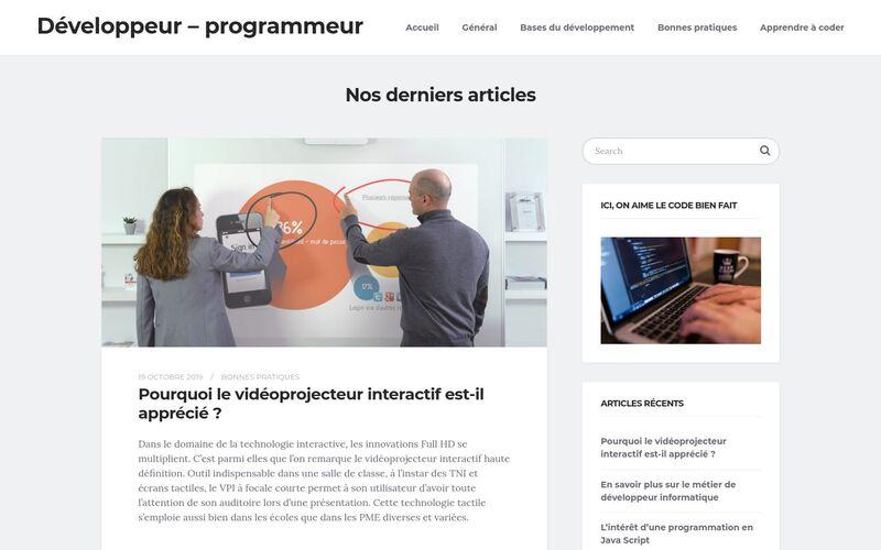 Développeur - programmeur - Le site des passionné du code