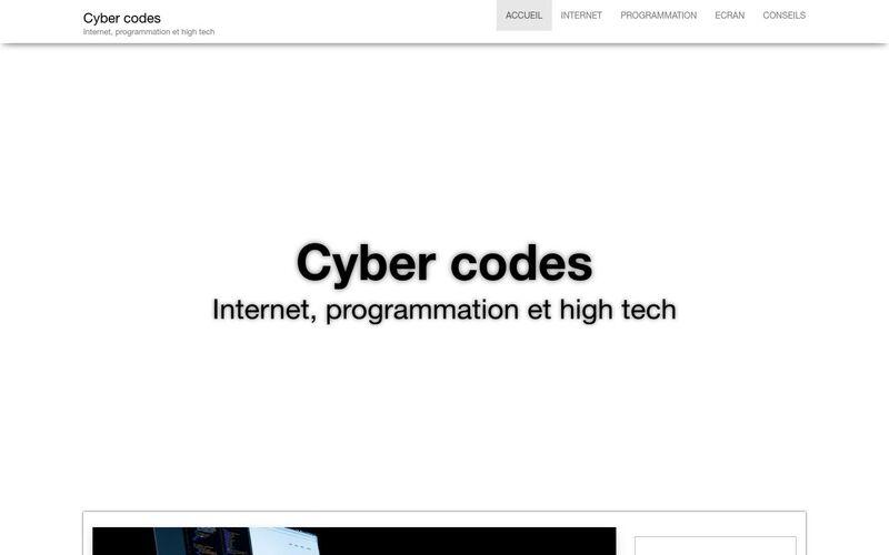 Cyber codes - Internet, programmation et high tech